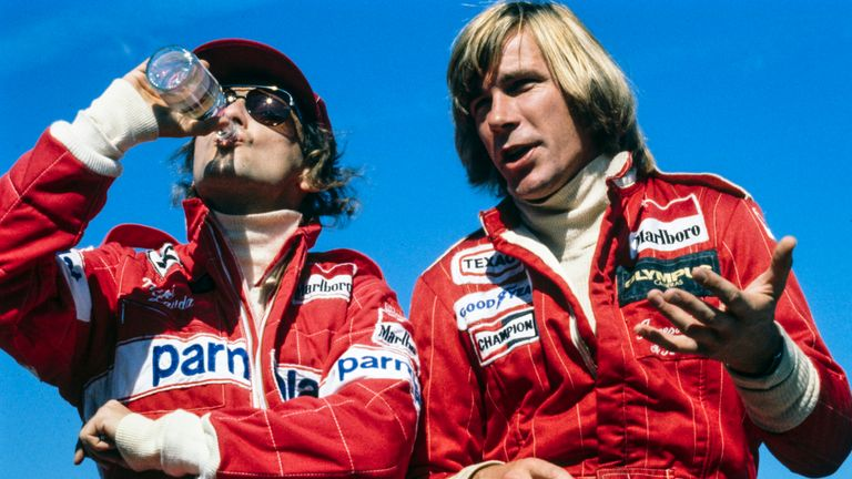 Niki Lauda and James Hunt's relationship was made famous in the film 'Rush'