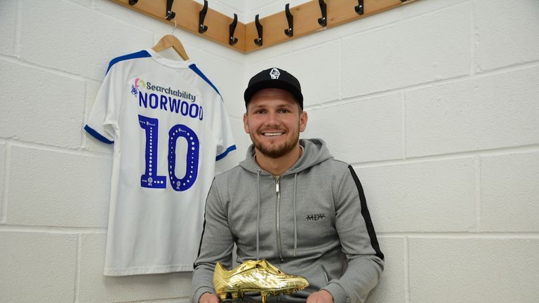 29 goals for James Norwood, who won a string of awards for his performances this year