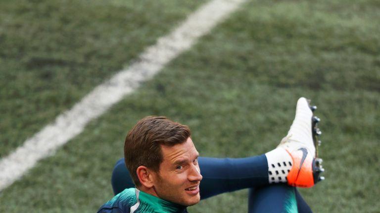 Jan Vertonghen has returned to training for Tottenham