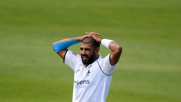 Jeetan Patel's Warwickshire have seen their victory hopes dented by rain