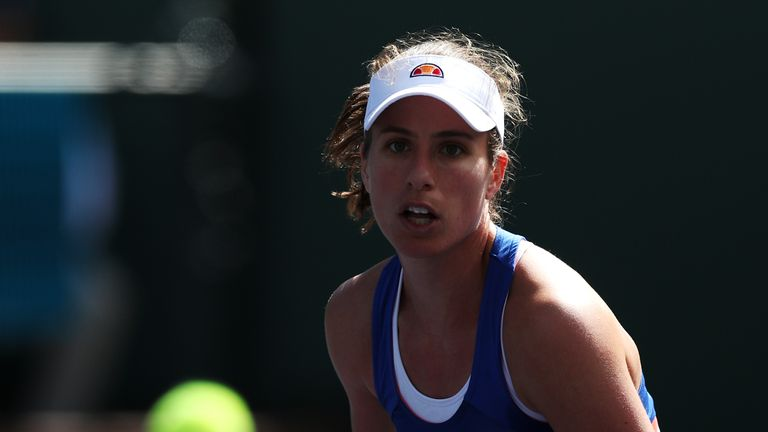 Johanna Konta reaches first clay-court semi-final of her career