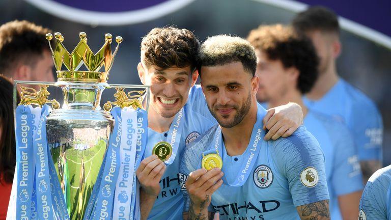 Walker helped Man City to a domestic treble last season