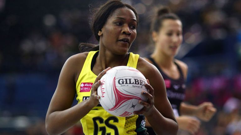 Joyce Mvula in action on the opening day of the 2019 Superleague season