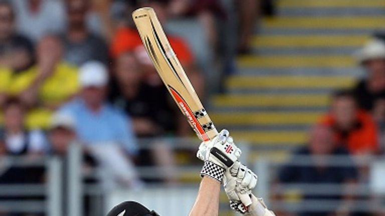 Kane Williamson was required to strike the final ball of the match for six to seal victory over Australia