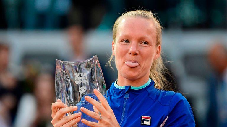 Kiki Bertens won the St Petersburg title earlier in the season