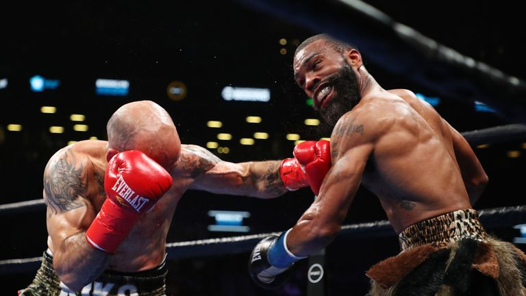 Martinez catches Russell Jr with a left hook