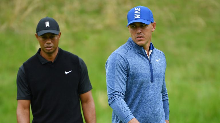 Koepka was 17 shots ahead of Woods at the halfway stage