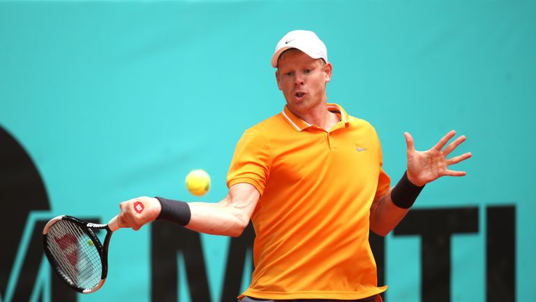 Kyle Edmund is one of three British players in the men's singles field