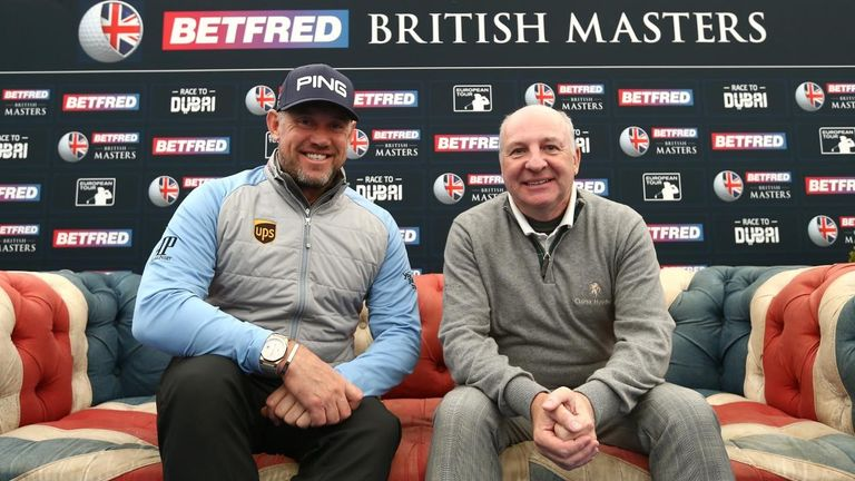 Lee Westwood with Graham Wylie, the owner of Close House (picture from Getty Images)