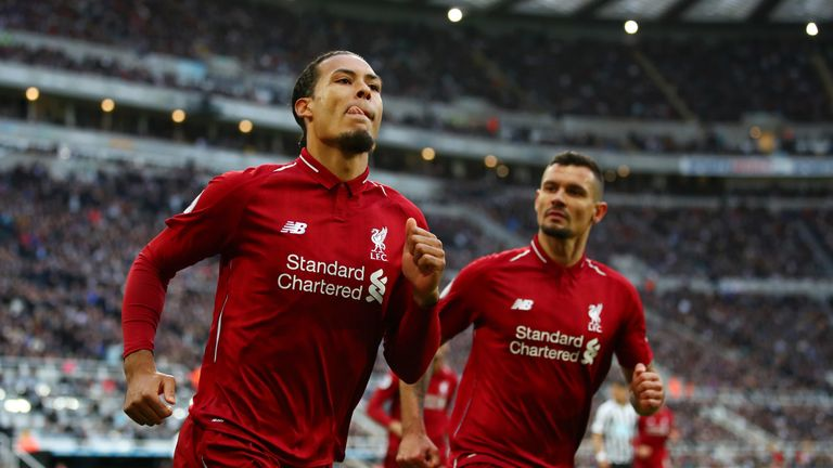 Virgil van Dijk topped the Sky Sports Fantasy Football points charts for last season with a whopping 299