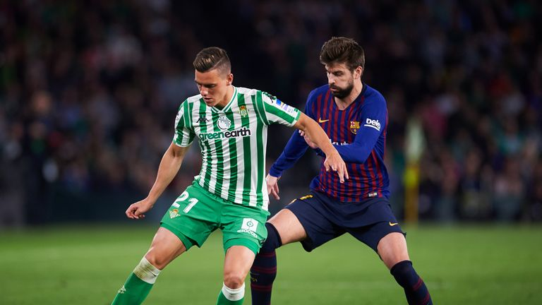 Giovani Lo Celso was on target in Real Betis' 4-3 win at Barcelona back in November