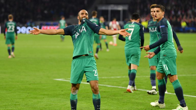 Lucas Moura was Tottenham's hat-trick hero against Ajax