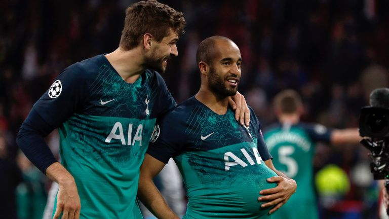 Fernando Llorente was influential in Lucas Moura's memorable winning goal in the semi-final against Ajax