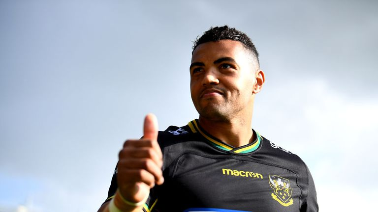 Luther Burrell scored a try on his final home appearance for Northampton