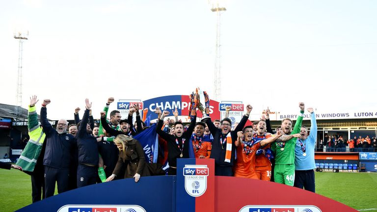 Luton were promoted to the Championship as League One champions