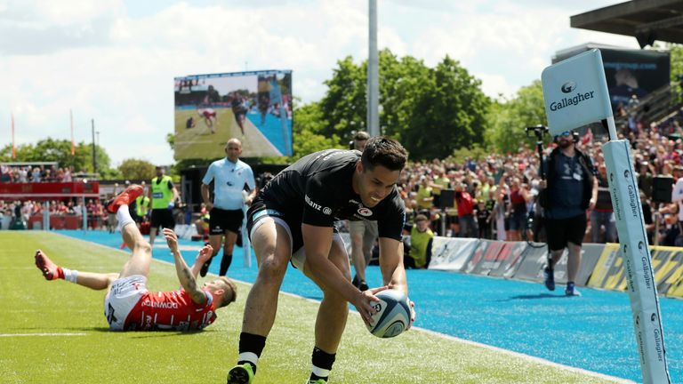 Sean Maitland responded almost immediately when crossing after a perfect Owen Farrell left-footed kick