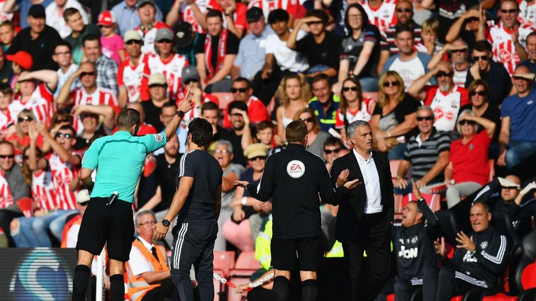 Referees will be able to show red cards to coaches from next season