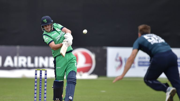 Mark Adair helped Ireland post a competitive score in Dublin