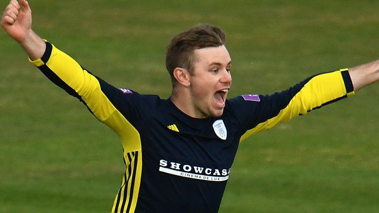 Mason Crane claimed three wickets for Hampshire