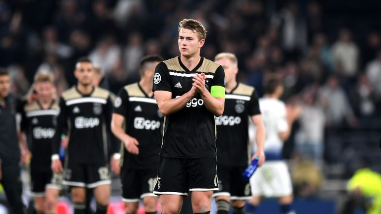 Ajax are understood to want £67m for Matthijs de Ligt