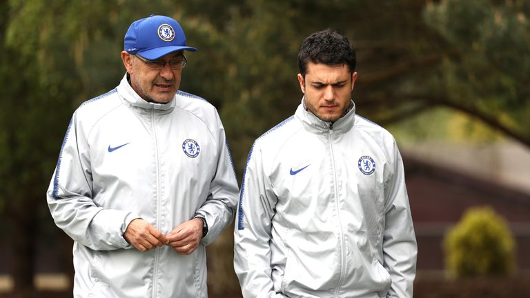 Maurizio Sarri ahead has been linked with a move back to Italy