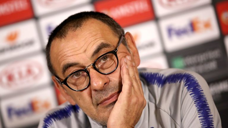 Maurizio Sarri won the Europa League and guided the Blues to a third-place finish in 2018/19