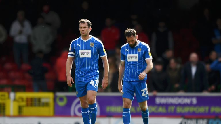 Michael Doyle and Jim O'Brien trudge off after relegation was confirmed