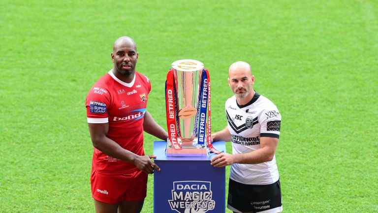 Huddersfield's Michael Lawrence and Hull FC's Danny Houghton are preparing to clash at Magic Weekend