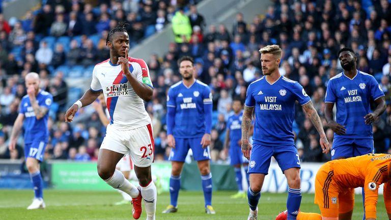 Michy Batshuayi scored Crystal Palace's second at the Cardiff City Stadium