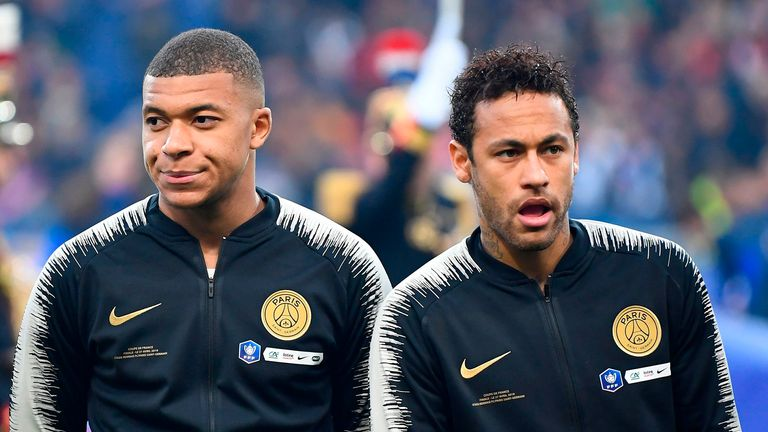 Kylian Mbappe and Neymar have been linked with moves away from PSG