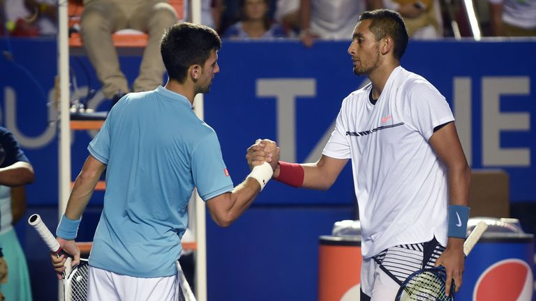 Kyrgios accused world No 1 Novak Djokovic of wanting to be liked as much as Roger Federer