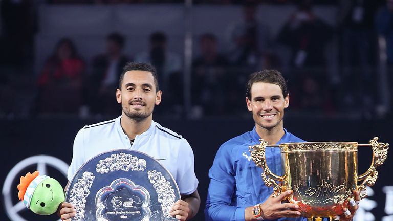 Kyrgios said Rafa Nadal was 'super salty' whenever he was beaten on court