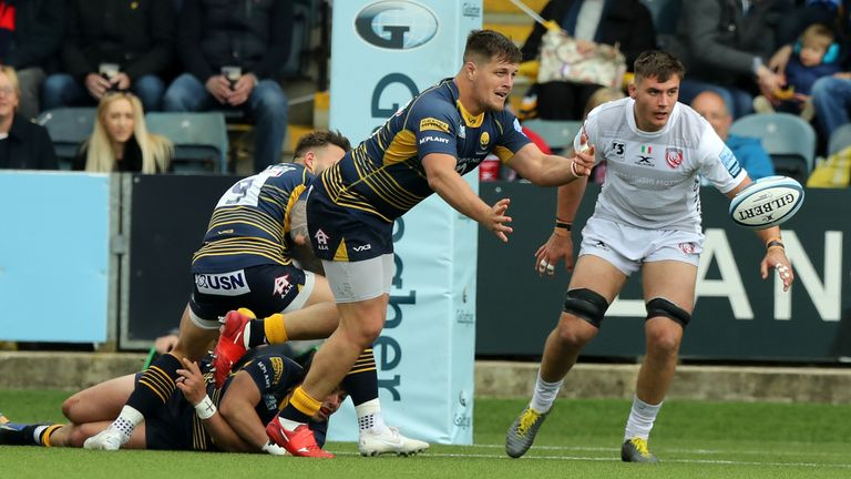 Nick Schonert will reach a century of appearances for Worcester when they take on Northampton
