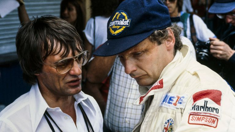 Lauda with Bernie Ecclestone at Brabham in 1978