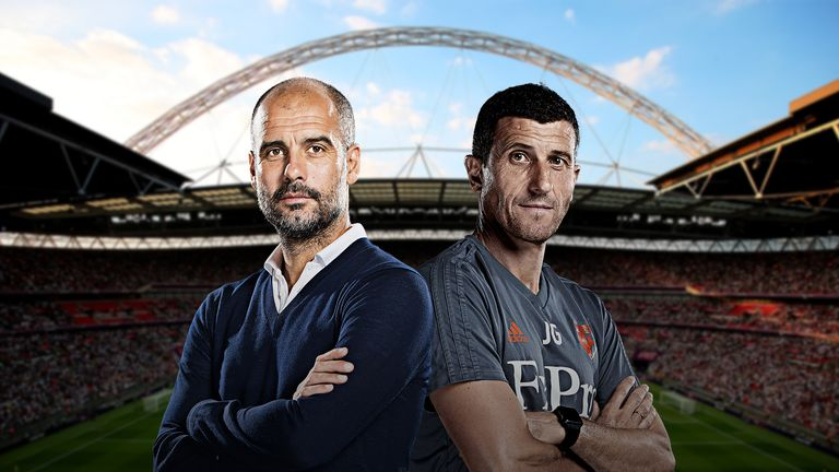 Manchester City will look to seal an unprecedented domestic treble on Saturday