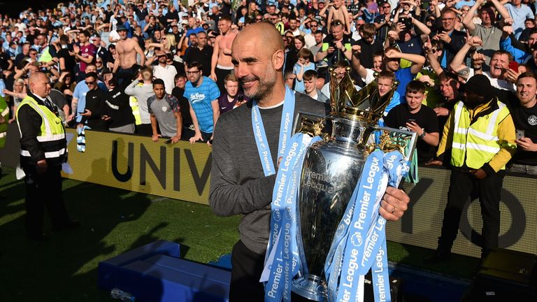 Pep Guardiola won the Premier League with Manchester City this season
