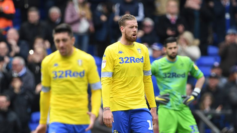 Pontus Jansson looks dejected after conceding at Portman Road