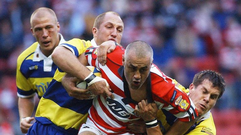 Pongia played in the Super League Grand Final with Wigan Warriors in 2003