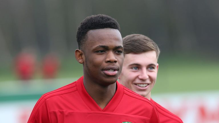 Rabbi Matondo made his senior Wales debut in the 1-0 loss to Albania last year