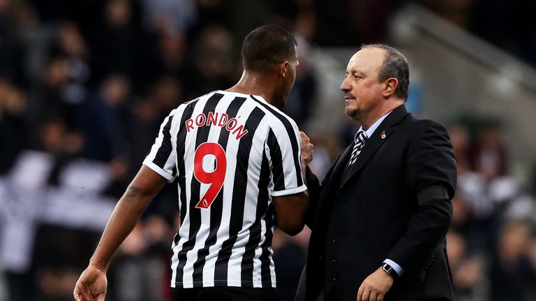 Salomon Rondon could be working under Rafa Benitez again, this time in China