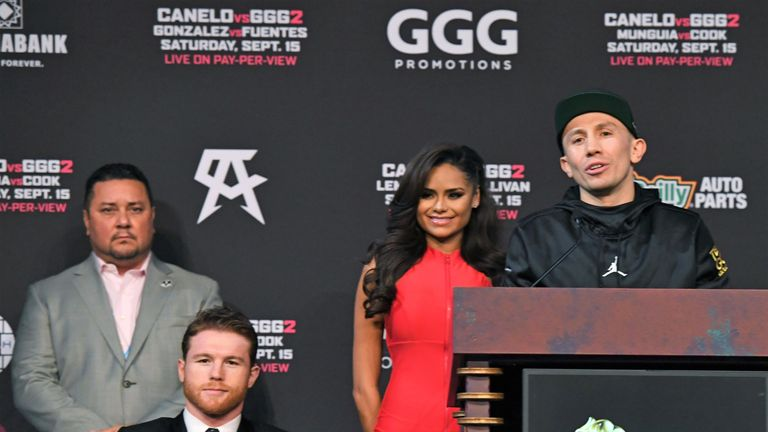 Eric Gomez (left) expects a third fight between Alvarez and Gennady Golovkin
