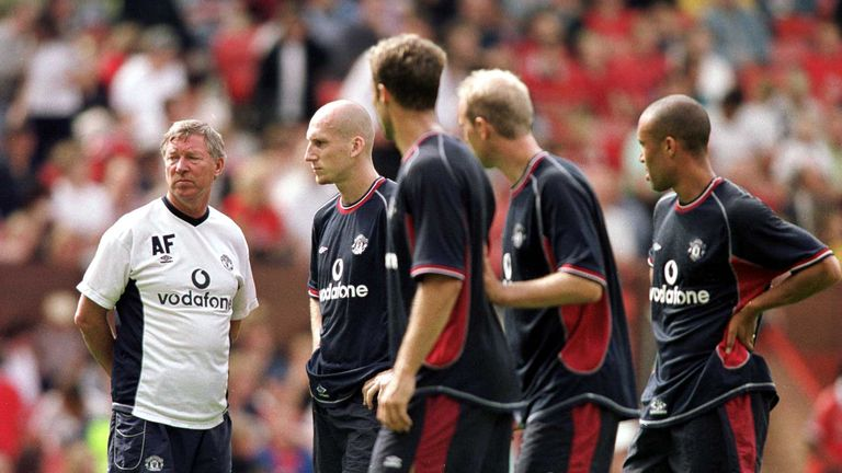 Sir Alex Ferguson was not impressed with Beckham's haircut