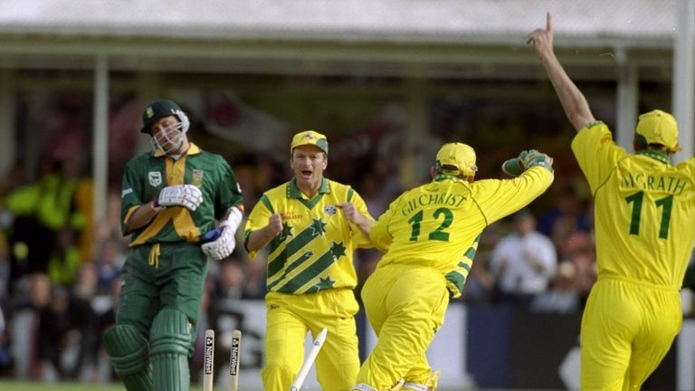 Allan Donald was incredibly run out with the scores level to see Australia into the 1999 final
