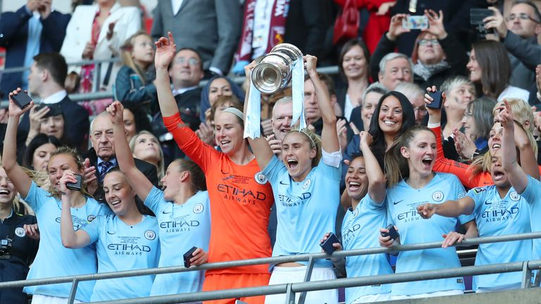 City won the Women's FA Cup at Wembley last year