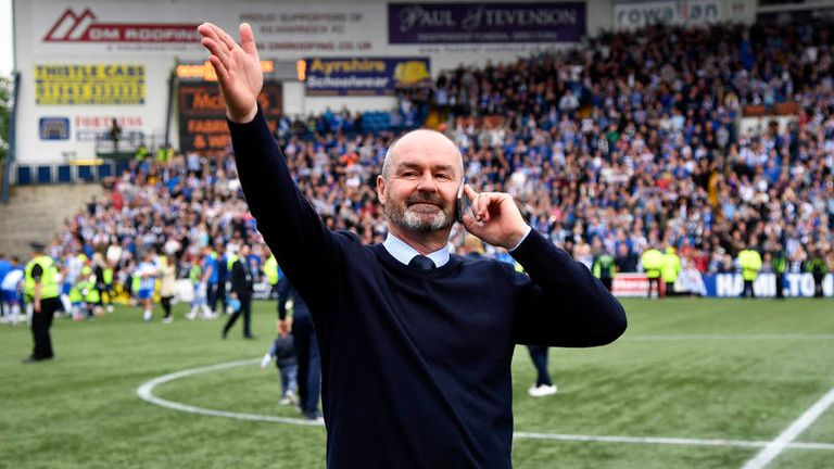 """Clarke said seeing three sides of Rugby Park full was """"my trophy"""""""
