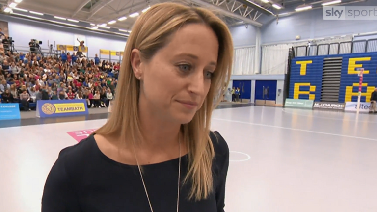 Jess Thirlby has swapped Team Bath Netball for England Netball