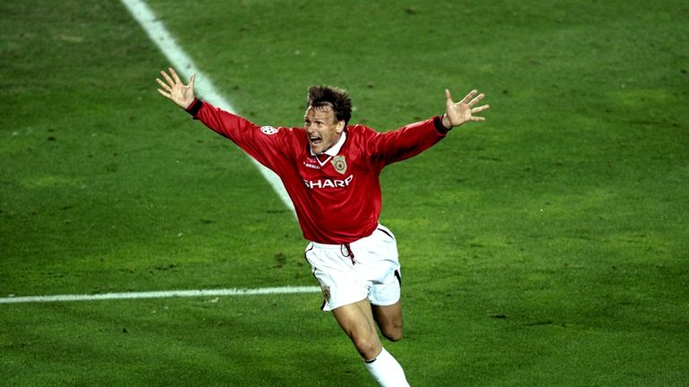 Sheringham was key in Manchester United's comeback in Barcelona