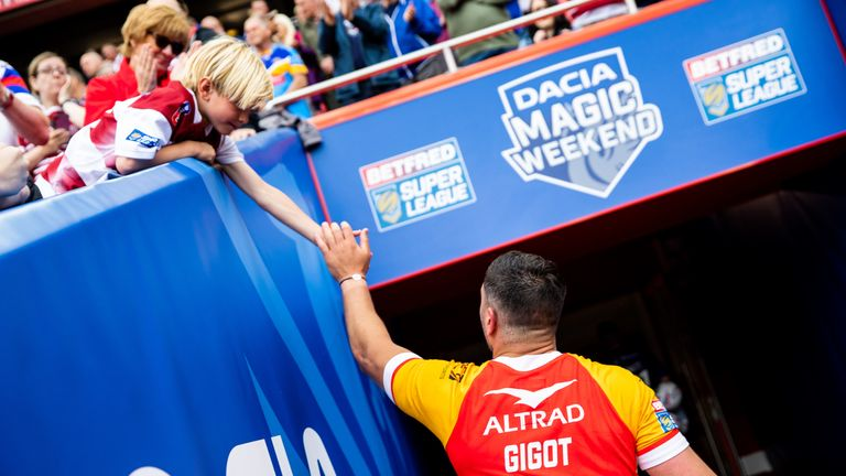 Tony Gigot claimed maximum points for his performance for Catalans Dragons