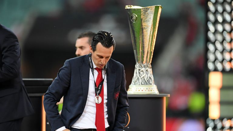 Unai Emery was unable to lead Arsenal to victory