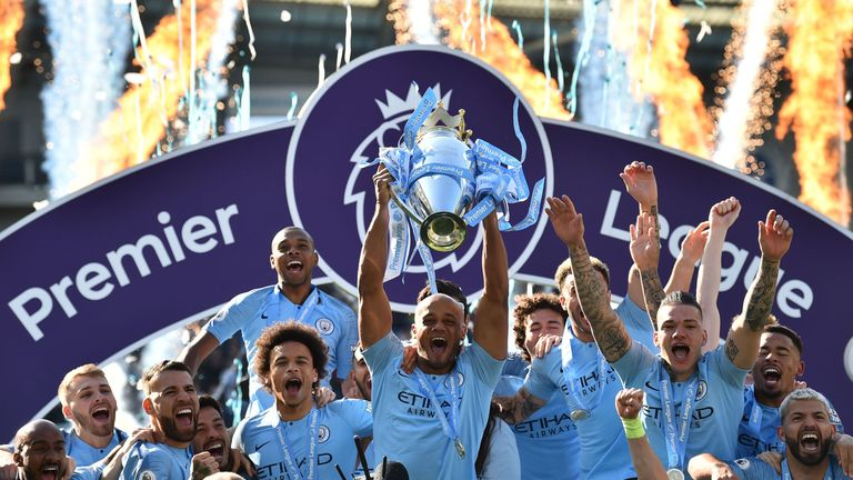 Kompany won four Premier League titles at City, two with De Bruyne as a team-mate